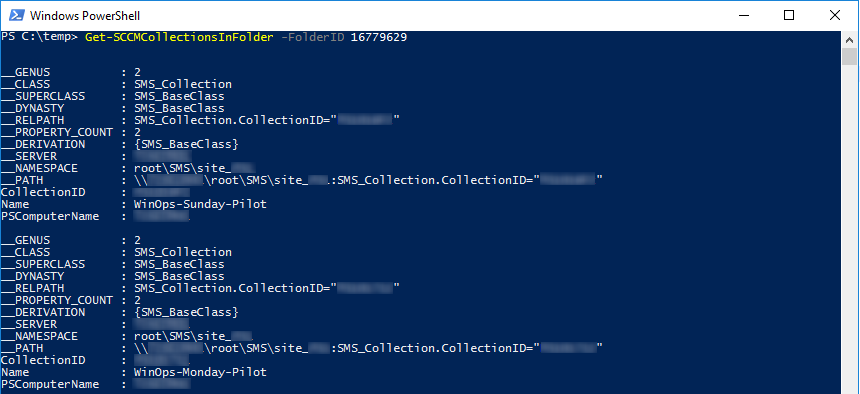 Get-SCCMFolderDetail Function with Parameter